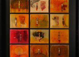 2007 / 2008, asambláže, pryskyřice, 12 x (25 x 19 cm)