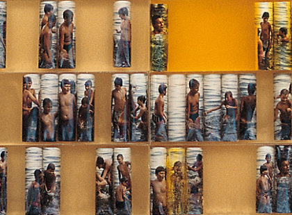 2008/2009, resin, photo, 300 x 90 cm