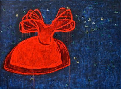 2011, akryl na plátně, 180 x 135 cm