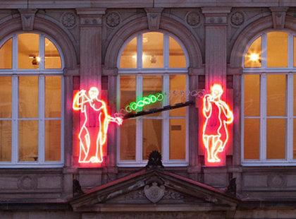 2011, neonová instalace, Osnabrück