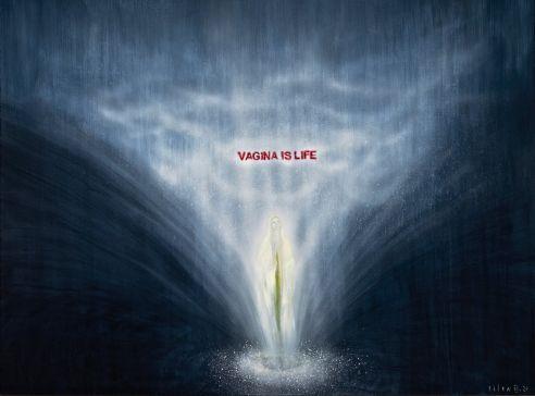 Life, cyklus Big Bang, 2020, akryl na plátně, 150 x 180 cm