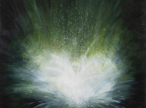 Supernova, cyklus Big Bang, 2020, akryl na plátně, 150 x 120 cm